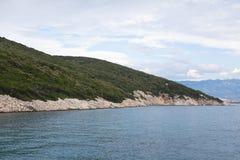Vista del mar adriático en Croacia Foto de archivo