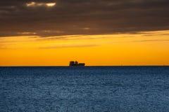 Vista del mar de Trieste Imagen de archivo libre de regalías