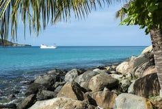 Vista del mar dei Caraibi 5 Immagine Stock Libera da Diritti