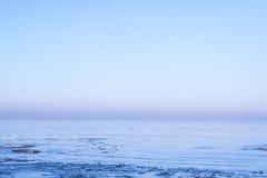 Vista del mar en invierno Fotografía de archivo