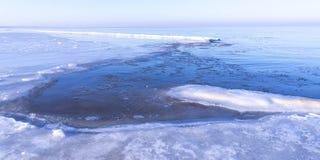 Vista del mar en invierno Foto de archivo