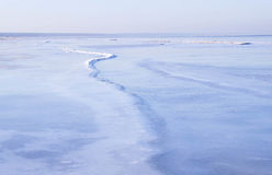 Vista del mar en invierno Fotos de archivo libres de regalías