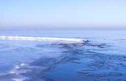 Vista del mar en invierno Foto de archivo libre de regalías