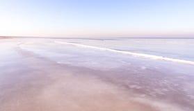 Vista del mar en invierno Imágenes de archivo libres de regalías