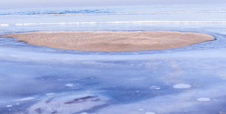 Vista del mar en invierno Fotografía de archivo libre de regalías