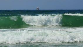 Vista del mar en verano fotos de archivo