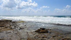 Vista del mar en verano foto de archivo