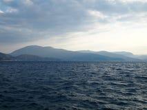 Vista del mar jónico Fotografía de archivo