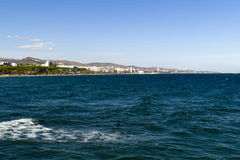 Vista del mar Mediterráneo, Marbella, España Fotos de archivo libres de regalías