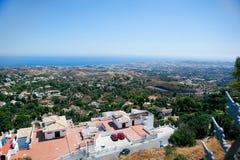 Vista del Mar Mediterraneo Immagini Stock