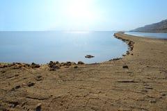 Vista del mar Morto di mattina Immagine Stock
