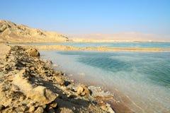 Vista del mar Morto di mattina Fotografia Stock Libera da Diritti