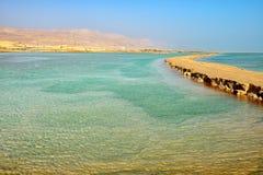 Vista del mar Morto di mattina Immagine Stock Libera da Diritti