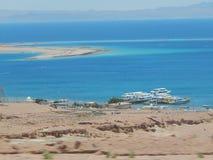 Vista del Mar Rojo cerca de Dahab imágenes de archivo libres de regalías