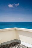 Vista del mare al balcone Immagine Stock Libera da Diritti