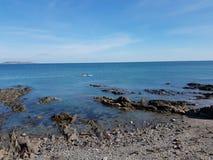 Vista del mare alla spiaggia di Portmanock fotografia stock libera da diritti