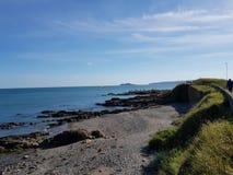 Vista del mare alla spiaggia di Portmanock fotografie stock libere da diritti