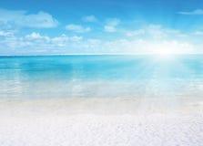 Vista del mare chiara Fotografie Stock