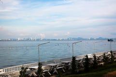 Vista del mare con il balcone Immagine Stock
