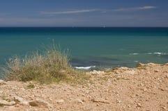 Vista del mare da clfftop Immagini Stock