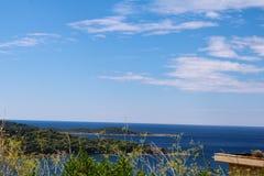 Vista del mare da Ragusa, Croazia Immagini Stock