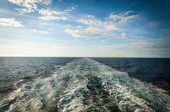 Vista del mare da una nave da crociera Fotografie Stock Libere da Diritti
