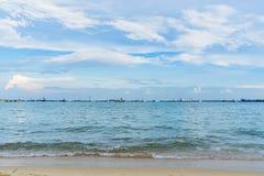 Vista del mare dal parco della costa Est, Singapore Immagini Stock