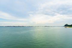 Vista del mare dal parco della costa Est, Singapore Fotografia Stock