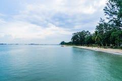 Vista del mare dal parco della costa Est, Singapore Fotografia Stock Libera da Diritti