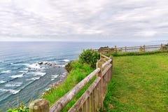 Vista del mare dall'alta costa Fotografia Stock Libera da Diritti