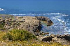 Vista del mare dall'alta riva Immagini Stock