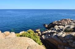 Vista del mare dall'alta scogliera Immagini Stock