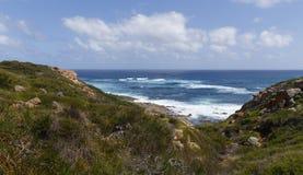Vista del mare dall'Australia occidentale della roccia di Mosè Fotografia Stock