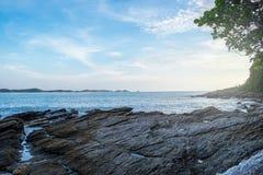 Vista del mare dalla spiaggia Fotografia Stock Libera da Diritti