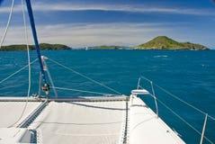 Vista del mare del catamarano Fotografia Stock Libera da Diritti