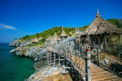 Vista del mare dell'isola del chang di si, Tailandia Immagini Stock Libere da Diritti