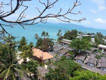 Vista del mare dell'isola di Koh Samui Fotografia Stock