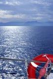 Vista del mare dell'oceano di Bue dalla barca Fotografie Stock