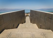 Vista del mare della Galilea in Israele Fotografia Stock
