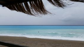 Vista del mare della spiaggia Immagine Stock