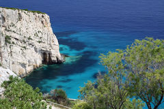 Vista del mare della Zacinto Fotografie Stock Libere da Diritti