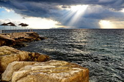 Vista del mare di Agean Fotografie Stock Libere da Diritti
