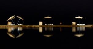 Vista del mare di notte fotografia stock libera da diritti
