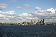 Vista del mare di Seattle Fotografie Stock