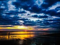 Vista del mare di sera Immagini Stock