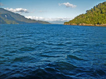 Vista del mare e dell'isola Immagine Stock Libera da Diritti