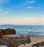 Vista del mare e punto di vista del marinaio delle pietre Fotografia Stock