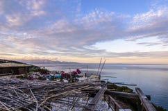 Vista del mare ionico dalle montagne di Zacinto fotografia stock libera da diritti