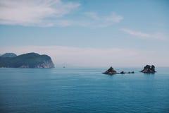 Vista del mare nel Montenegro Immagini Stock