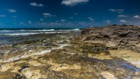 Vista del mare Panorama del mare e del cielo Idillio del mare Fotografia Stock